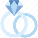 couple, diamond rings, engagement, present, valentine's day, wedding