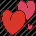 hearts, love, heart, valentine, romantic, romance, wedding