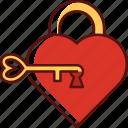 lock key, heart, love, valentine, romance, romantic, wedding
