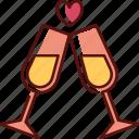 champagne, drink, alcohol, wine, glass, celebration, valentine