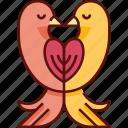 doves, wedding, pigeon, birds, love birds, love, valentine icon