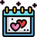 calendar, day, heart, icons, love, valentines icon