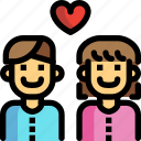 couple, date, day, love, valentines icon