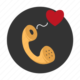 call, heart, love, love confession, message, phone, relationships icon