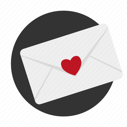 heart, letter, love, love confession, message, relationships, secret icon