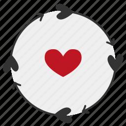 arrow, heart, love, relationships icon
