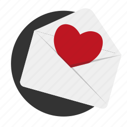 heart, letter, love, love confession, message, relationships icon