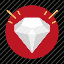 diamond, gift, present icon