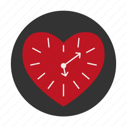 clock, dating, heart, love, time icon
