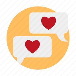 chat, date, dating, love, love confession, online, penpal icon