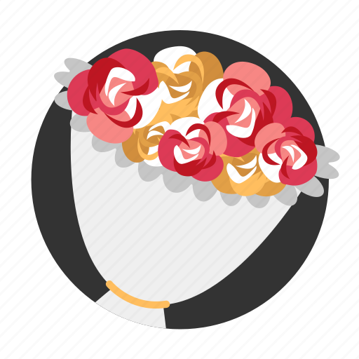bouquet, date, dating, flavor, flowers, gift, present icon