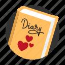 amorousness, beguin, book, diary, heart, memory, secret
