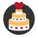 cake, celebration, heart, pie, relationships, sweet, wedding icon