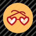 amorousness, beguin, glasses, heart, heart shaped, heart shaped glasses, love