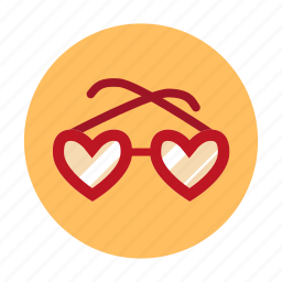 amorousness, beguin, glasses, heart, heart shaped, heart shaped glasses, love icon