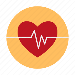 amorousness, cardiogram, dating, heart, heartbeat, love icon