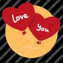 air balloons, balloon, balloons, gift, heart, love, present