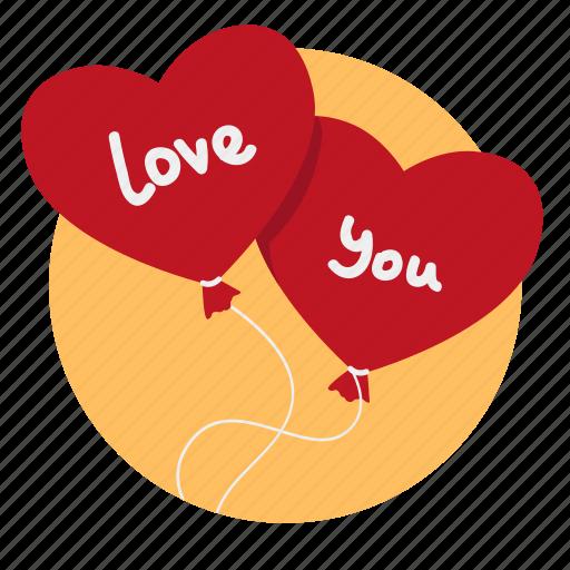 air balloons, balloon, balloons, gift, heart, love, present icon