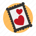frame, heart, image, love, memory, photo icon