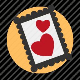 frame, heart, image, love, memory, photo icon