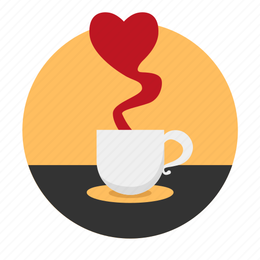 beguin, coffee, date, dating, heart, love, tea icon