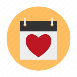 calendar, date, dating, expectation, heart, love, waiting icon
