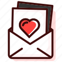email, envelope, heart, letter, love, message, romance icon