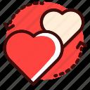 couple, exchange, heart, love, romantic, valentine, wedding icon