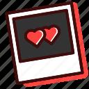 heart, picture, love, postcard, polaroid, photo, couple icon