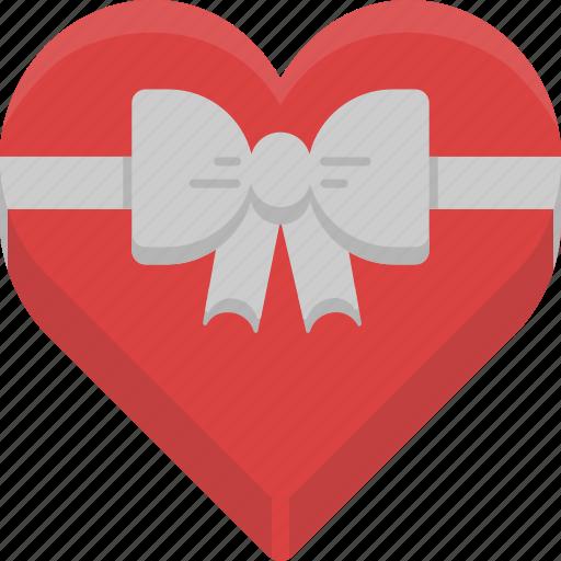 box, chocolate, food, heart, love, valentine, valentine's day icon