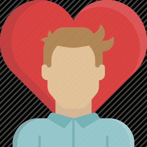 heart, love, man, relationship, romance, valentine, valentine's day icon