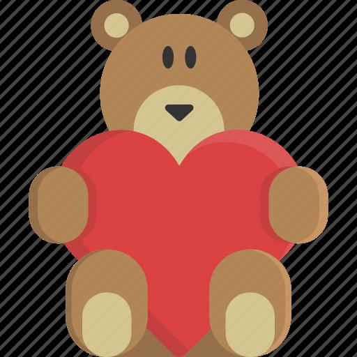 Bear, heart, love, peluche, teddy, valentine, valentine\'s day icon ...