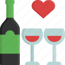 alcohol, drink, glass, love, valentine, valentine's day, wine icon