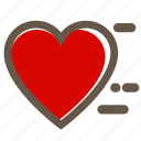 couple, grey, heart, love, red, shape, valentine's icon