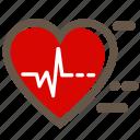 beat, heartbeat, love, medicine, pulse, red, valentine's icon