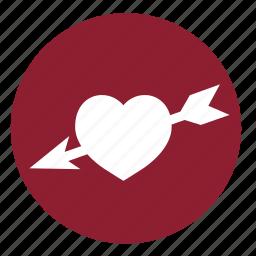 arrow, arrows, couple, heart, love, valentine, valentines icon