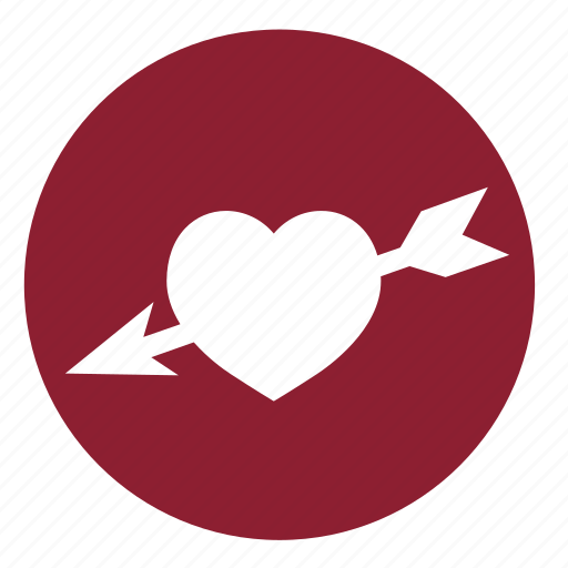 arrow, arrows, couple, heart, love, valentine, valentines icon