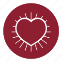 health, heart, love, pulse, romantic, valentine's, valentines icon