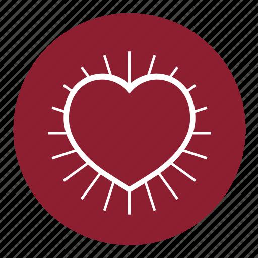 health, heart, love, pulse, romantic, valentine's, valentines icon