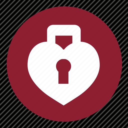 couple, heart, lock, locked, love, valentine, valentines icon