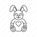 bunny, love, sweet, toy, valentine icon