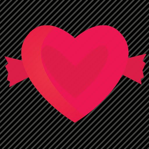 candy, heart, love, romance, valentine icon