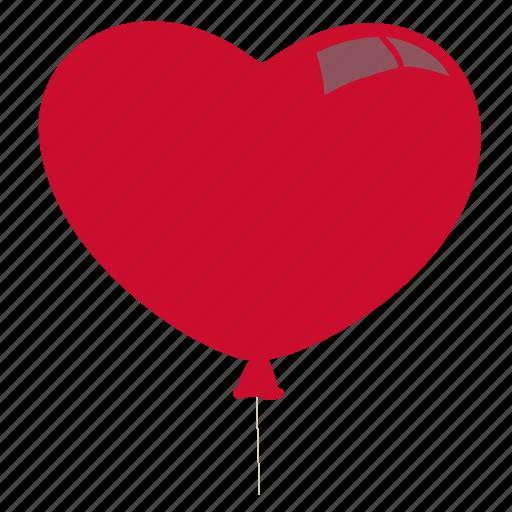 balloon, love, romance, valentine icon