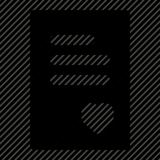 letter, love, valentine icon