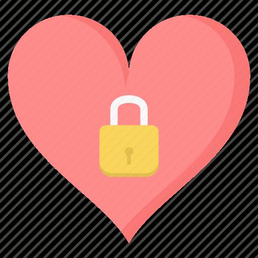 heart, lock, love, protection, romantic, valentine icon