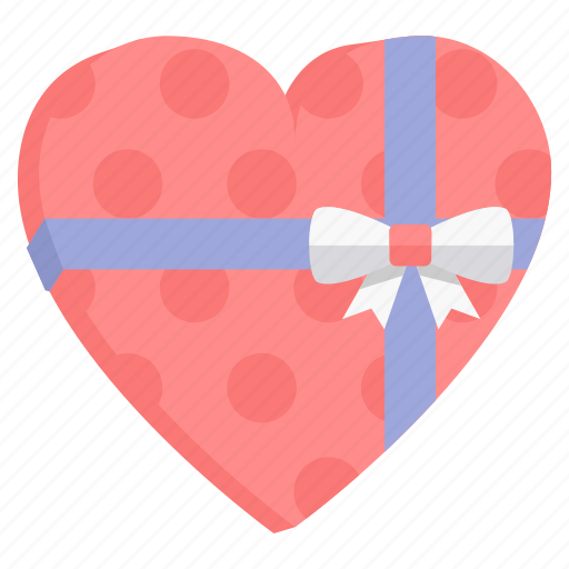 box, gift, love, package, present, valentine icon