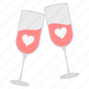 celebration, day, heart, love, party, romance, valentine icon