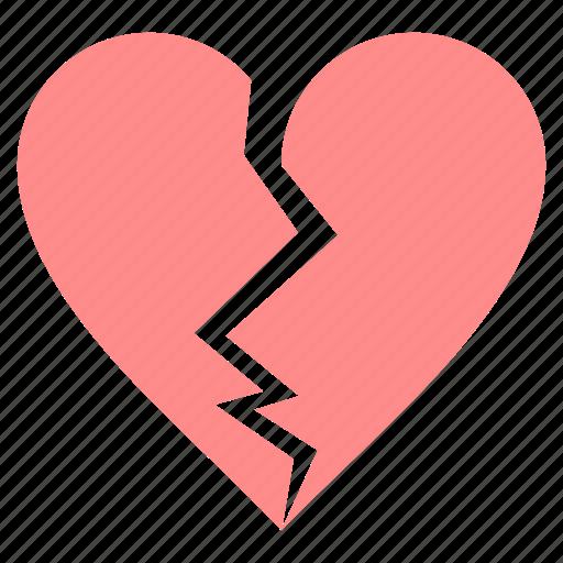 break, heart, love, sad, valentine icon