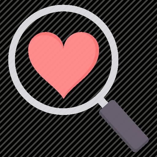 find, love, search, valentine icon