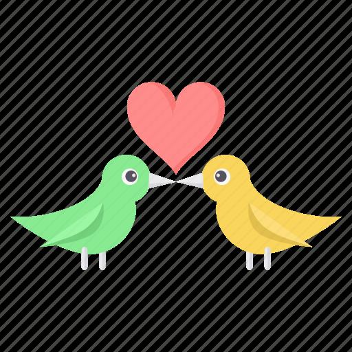 birds, love, marriage, romance, romantic, valentine, valentines icon
